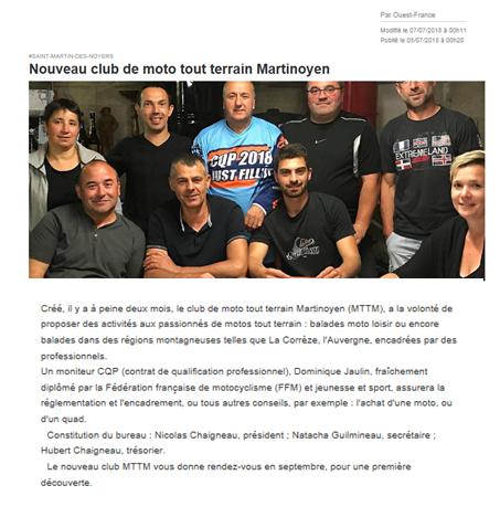 Moto club tout terrain