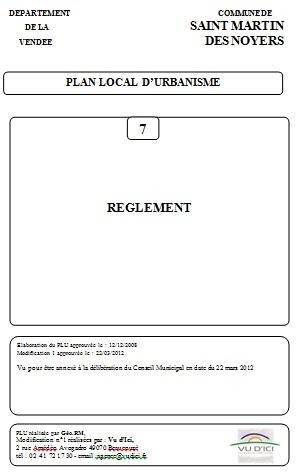Règlement PLU