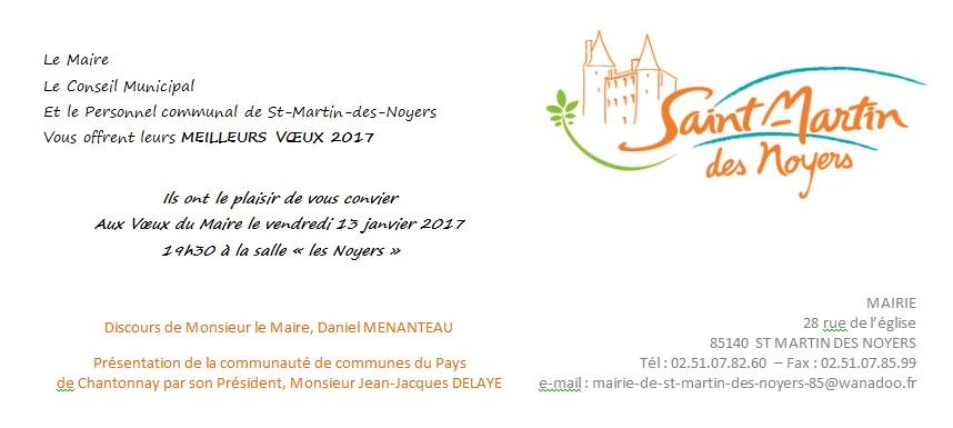 invitation voeux 2017